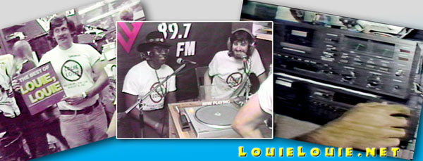 KFJC Maximum LOUIE LOUIE photo montage © Eric Predoehl
