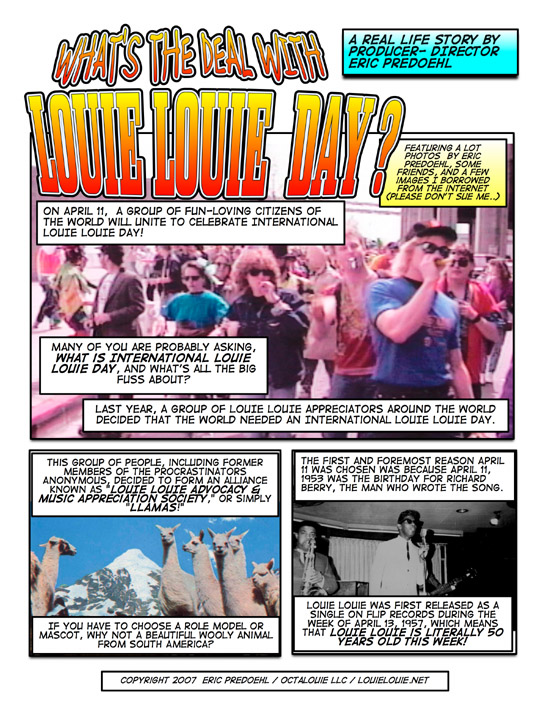 The LOUIE LOUIE Comic Strip Blog - Chapter 3