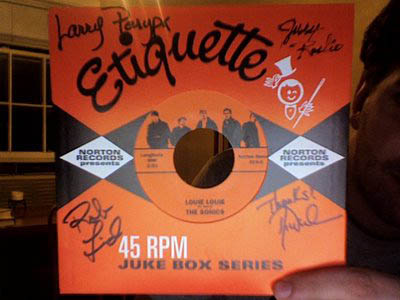 autographed SONICS 45 single - pretty cool, eh?