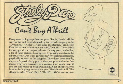 Steely Dan and LOUIE LOUIE ad