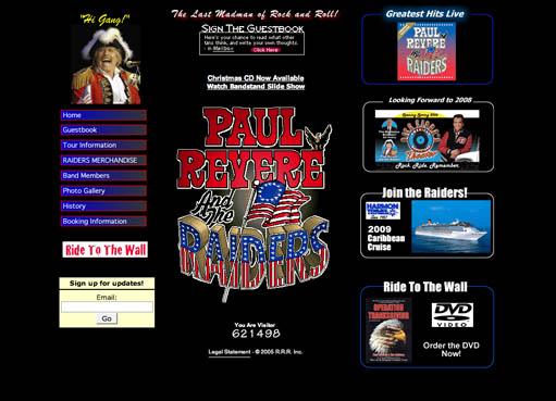 Paul Revere & the Raiders - webpage