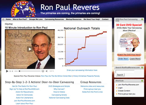 Ron Paul's Raiders -the webpage