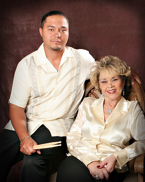 Etta James and her son Donto James