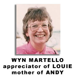 Wyn Martello, friend of LOUIE, mother of ANDY
