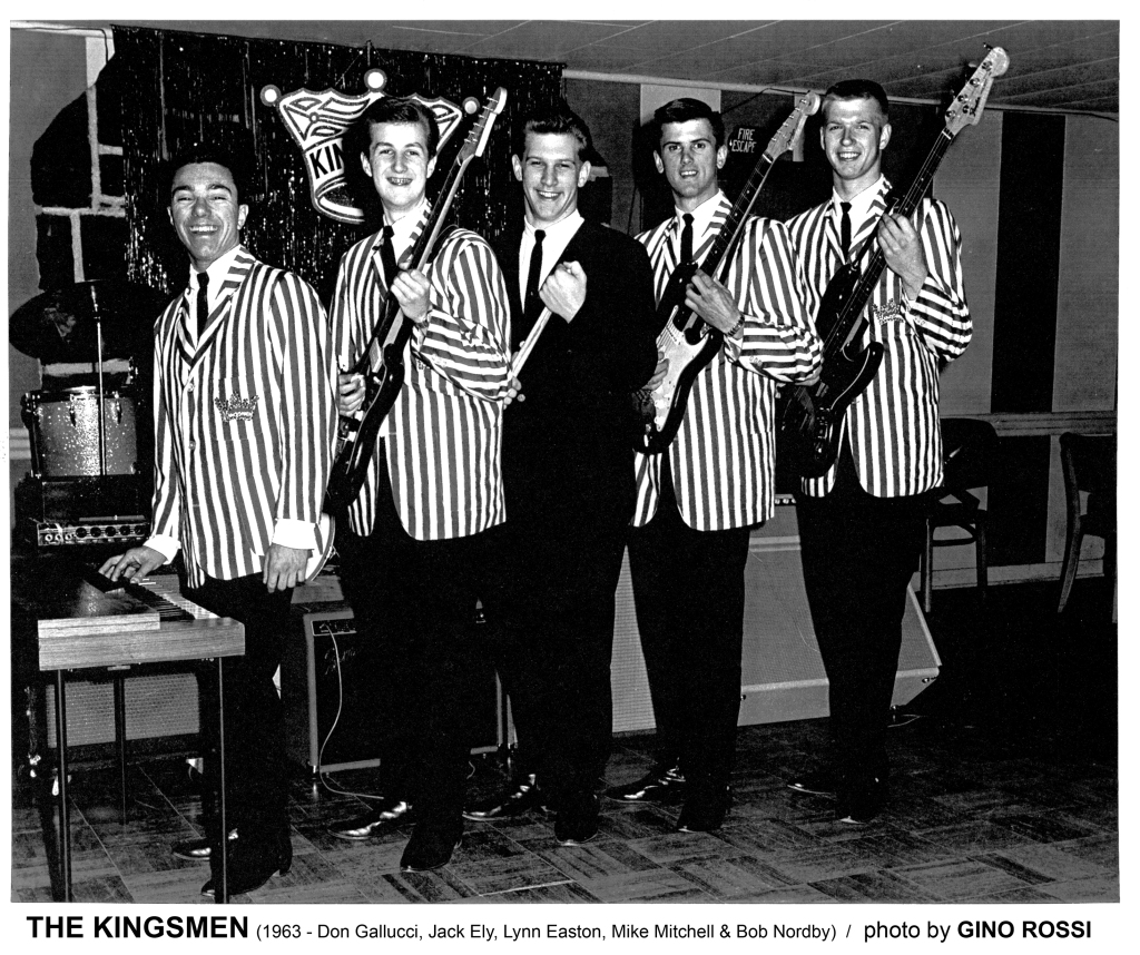 The Kingsmen with Jack Ely, circa 1963