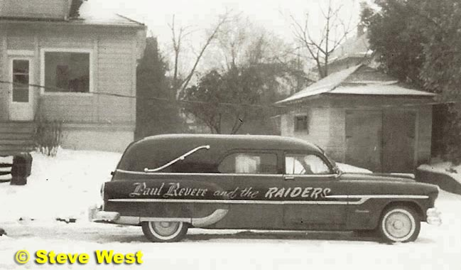 steve West Raiders hearse
