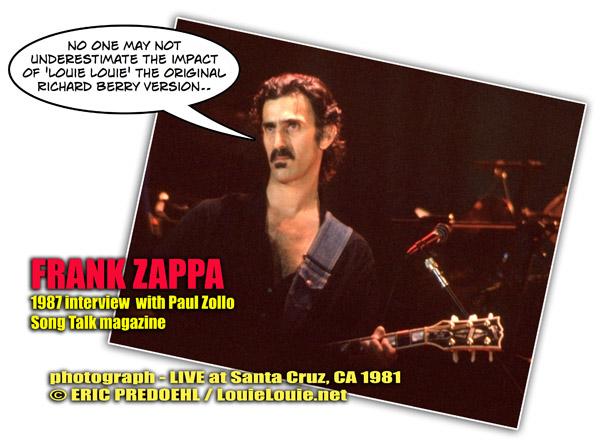 Frank Zappa photograph © Eric Predoehl / LouieLouie.net