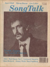 Frank Zappa in SongTalk magazine