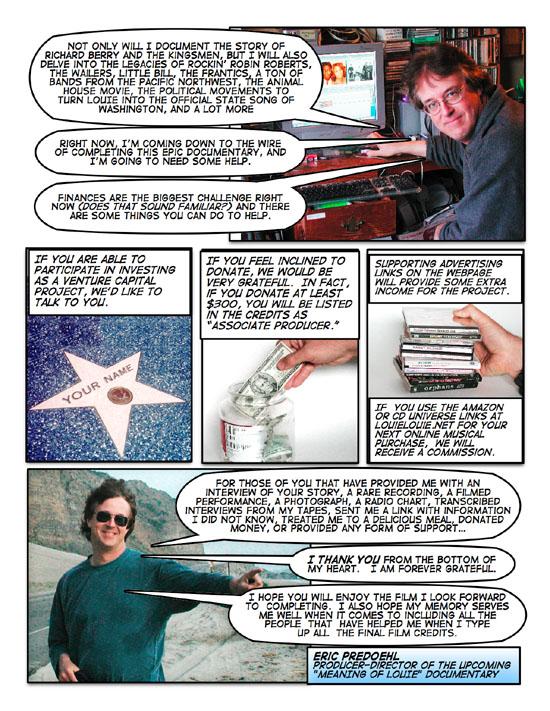 Louie Louie- the photo comic strip